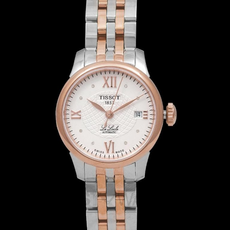 [NEW] Tissot T-Classic Le Locle  Automatic Lady Automatic Silver Dial Diamond Indexes Ladies Watch T41.2.183.16