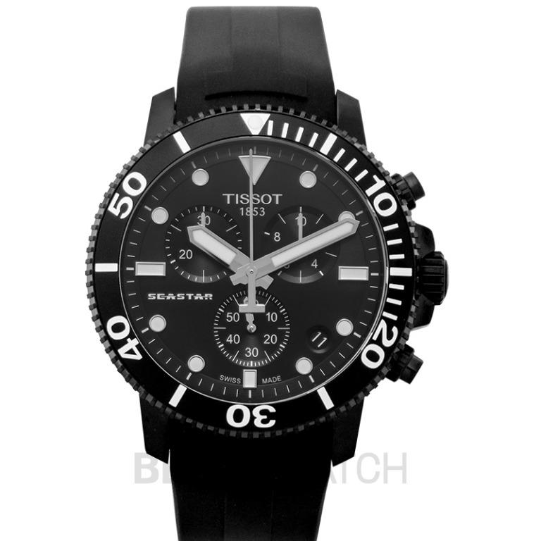 [NEW] Tissot T-Sport Seastar 1000 Chronograph Quartz Black Dial Men's Watch T120.417.37.051.02
