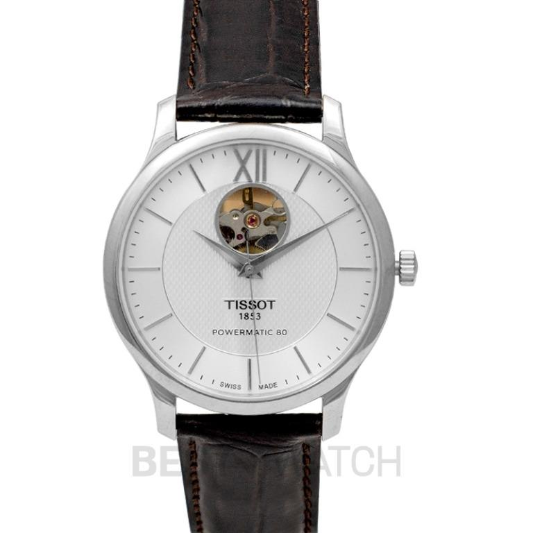 [NEW] Tissot T-Classic Tradition Powermatic 80 Open Heart Automatic Silver Dial Men's Watch T063.907.16.038.00