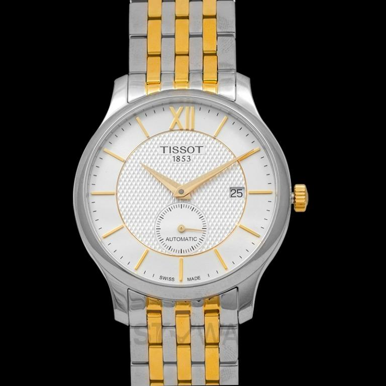 [NEW] Tissot T-Classic Tradition Automatic Small Second Automatic Silver Dial Men's Watch T063.428.22.038.00