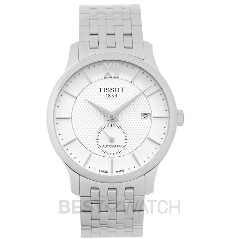 [NEW] Tissot T-Classic Tradition Automatic Small Second Automatic Silver Dial Men's Watch T063.428.11.038.00