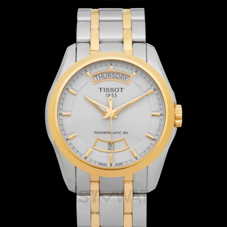 [NEW] Tissot T-Trend Couturier Powermatic 80 Automatic White Dial Men's Watch T035.407.22.011.01