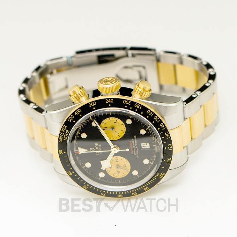 [NEW] Tudor Heritage Black Bay Chrono S&G Swiss Steel Automatic Black Dial Men's Watch 79363N-0001