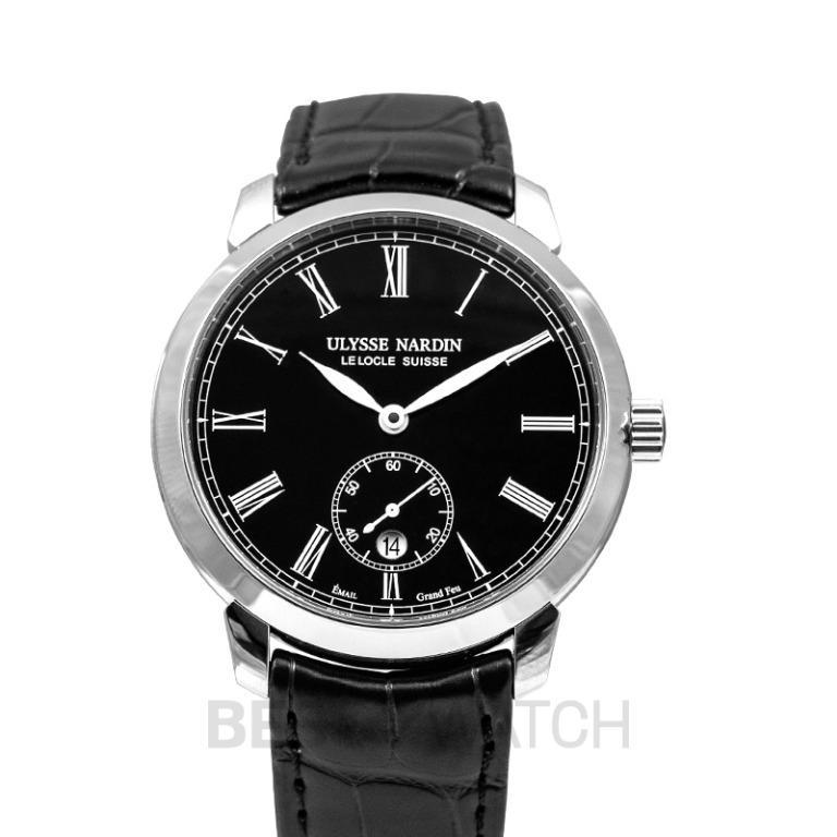 [NEW] Ulysse Nardin Classico Manufacture Stainless Steel Automatic Black Dial Men's Watch 3203-136-2/E2