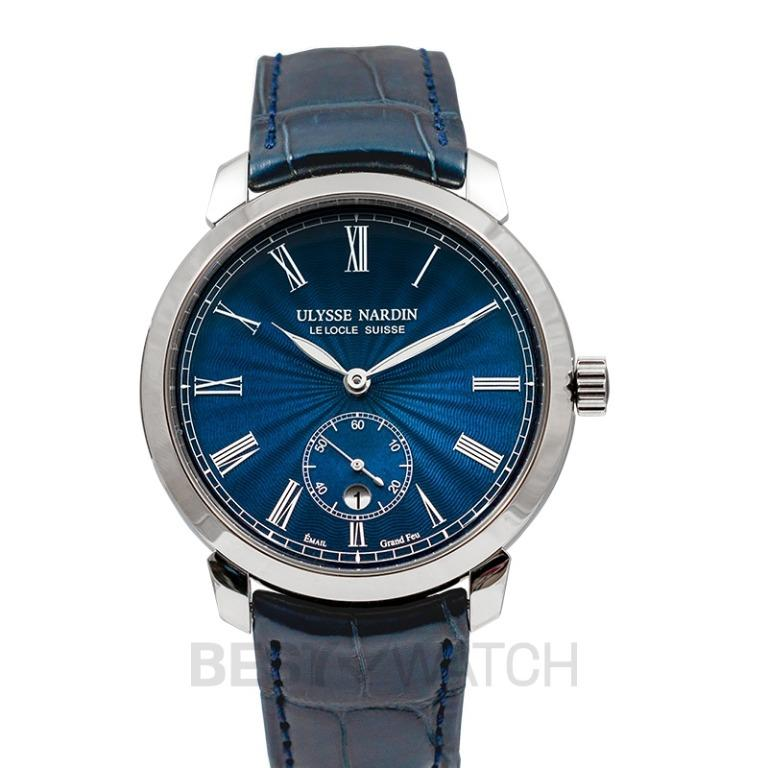 [NEW] Ulysse Nardin Classico Manufacture Stainless Steel Automatic Blue Dial Men's Watch 3203-136-2/E3