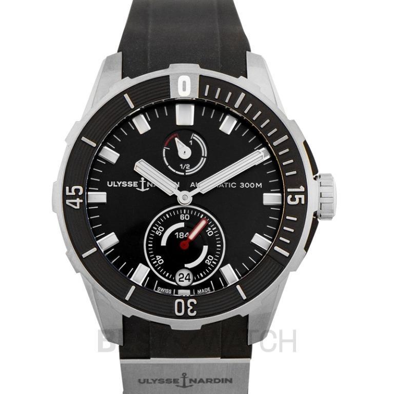 [NEW] Ulysse Nardin Diver Chronometer Titanium Automatic Black Dial Men's Watch 1183-170-3/92