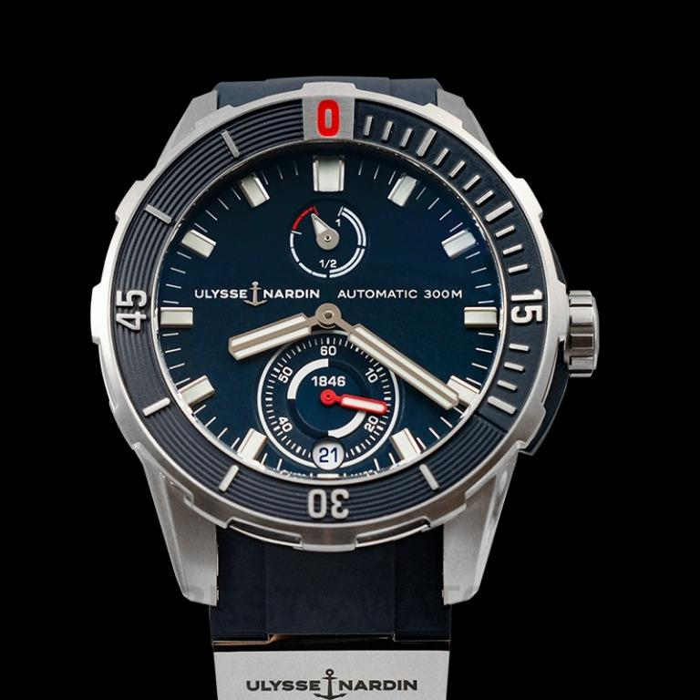 [NEW] Ulysse Nardin Diver Chronometer Titanium Automatic Blue Dial Men's Watch 1183-170-3/93