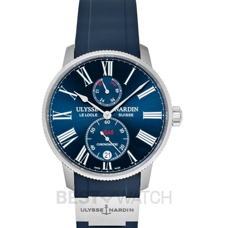 [NEW] Ulysse Nardin Marine Torpilleur Stainless Steel Automatic Blue Dial Men's Watch 1183-310-3/43