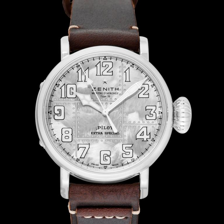 [NEW] Zenith Pilot Type 20 Extra Special Automatic Silver Dial Men's Watch 05.2430.679.17.C902