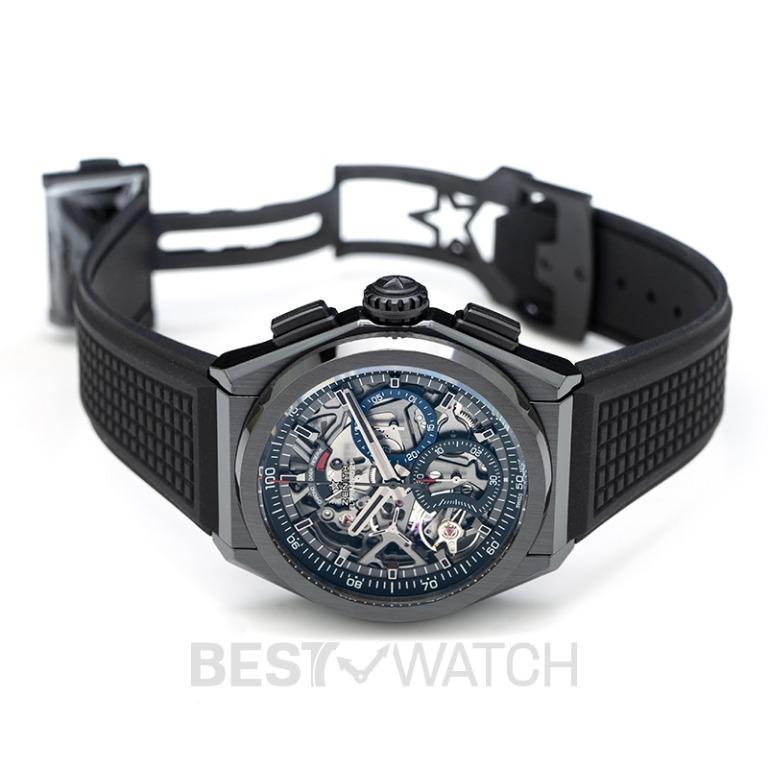 [NEW] Zenith Zenith Defy El Primero 21 Black Ceramic/Skeleton/Rubber 44mm 49.9000.9004/78.R782