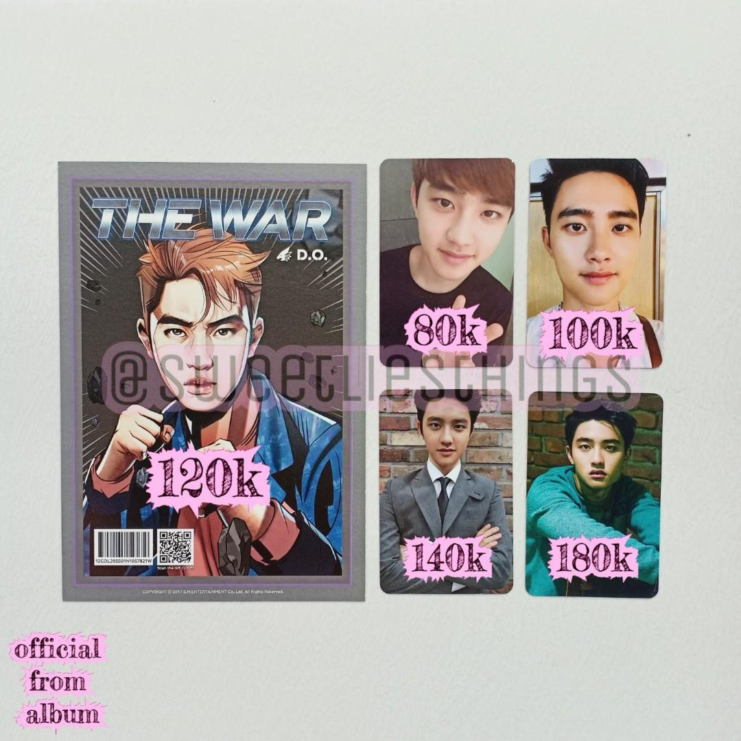 OFFICIAL PHOTOCARD EXO D.O KYUNGSOO THE WAR ANDANTE GROWL EXODUS LMR LOVE ME RIGHT JAPAN