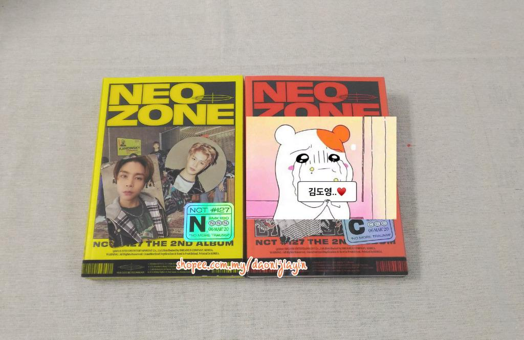 [Ready Stock][Unsealed][N ver] NCT 127 NEO ZONE 정규 2집 [NCT #127 NEO ZONE] Johnny Pc Taeil Cc