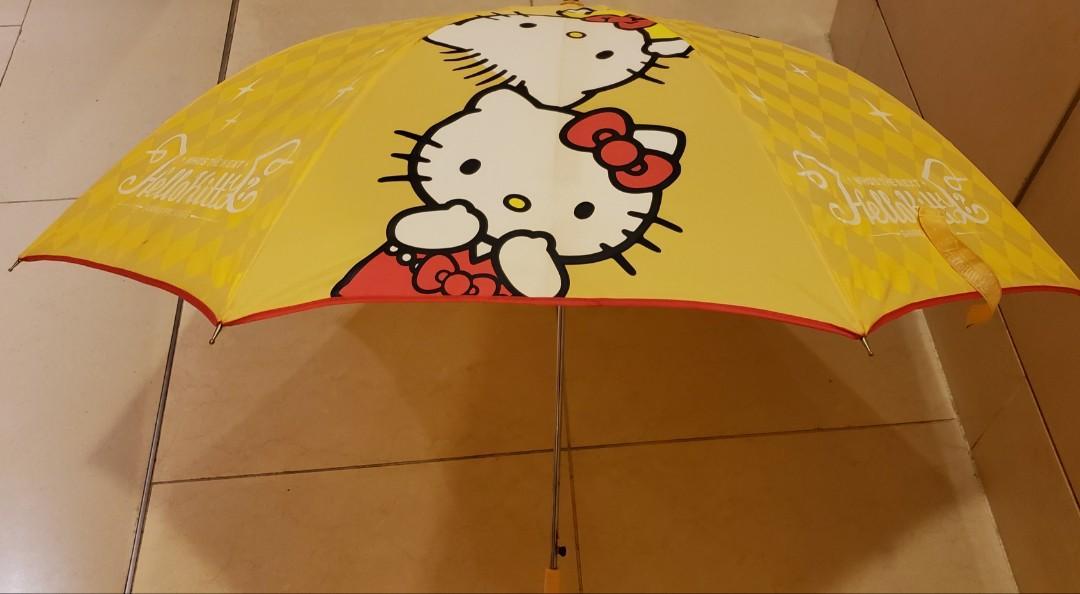 Sanrio卡通人物雨傘 (印有大口仔, xo, twins star, melody, keroppi, hello kitty umbrella)
