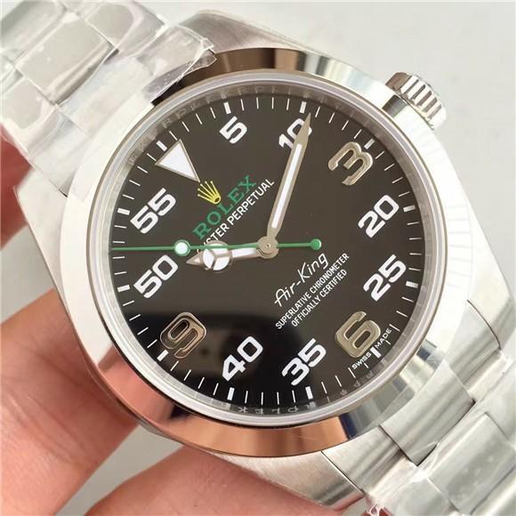 Special Price N厂特价 Noob Rolex Air-King 116900 SS 904L Black Dial Swiss 2836-2