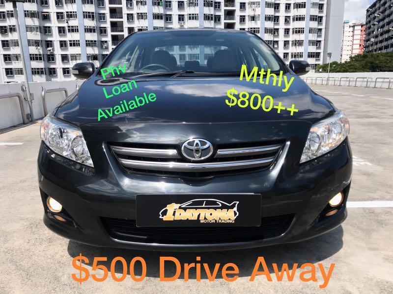Toyota Corolla Altis 1.6A Elegance New 5year Coe  Auto