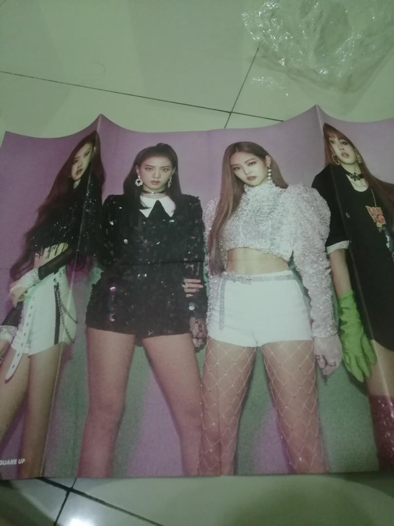 【WTS】BLACKPINK SQUARE UP OFFICIAL DOUBLE SIDE FOLDED POSTER