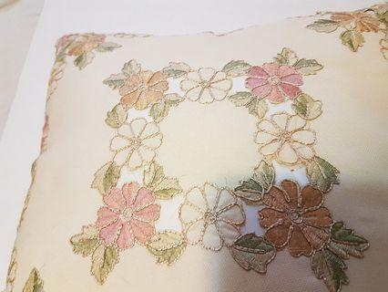 3 EMBROIDERED Couch Cushion Covers + Cushions!