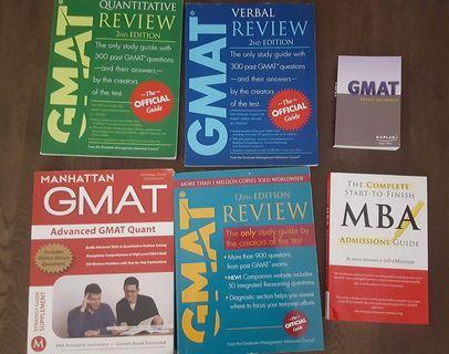 GMAT Guides - Official, Verbal, Quant, Adv Quant 5 Books