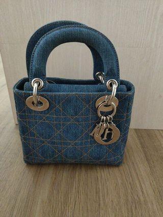 Authentic Dior denim bag ( Lady dior )