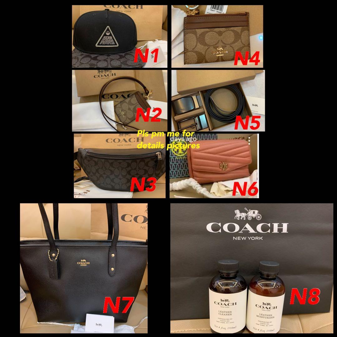 (15/03/20)Ready Stock authentic coach men women wallet Kate spade Marc Jacobs sling bag crossbody camera bag wallet holder card holder lanyard coin pouch wallet bhj