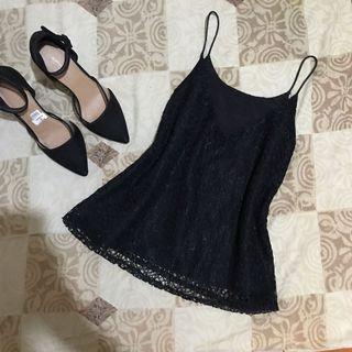 Black String Cami Top