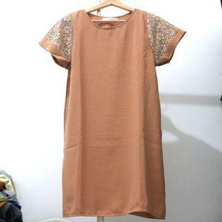 Midi Dress Coklat / Mididress Korea