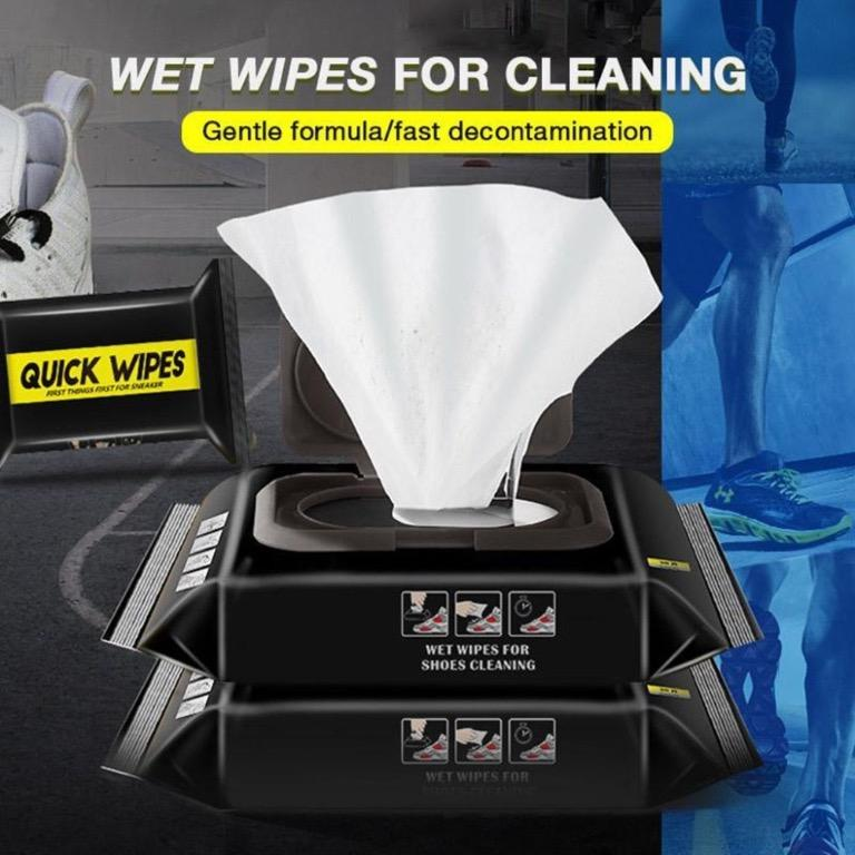 2 pads Disposable White Shoe Wet Wipes Tissue Laundry Cleaning Care White Shoes Scrubbing Tissue