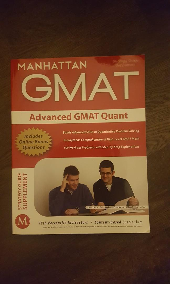 GMAT Guides - Official, Verbal, Quant, Adv Quant 5 Books
