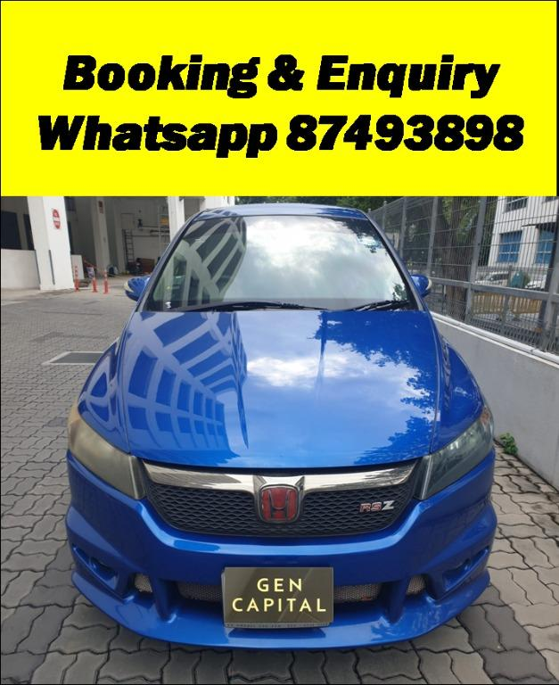 Honda Stream RSZ HAPPY SUNDAY!! Most Reliable & Cheapest Car rental in town with just $500 Deposit driveoff immediately. Free rental for new signup contracts. Fuel Eficient & Spacious car. Whatsapp 8188 8616 now to enjoy special rates!!