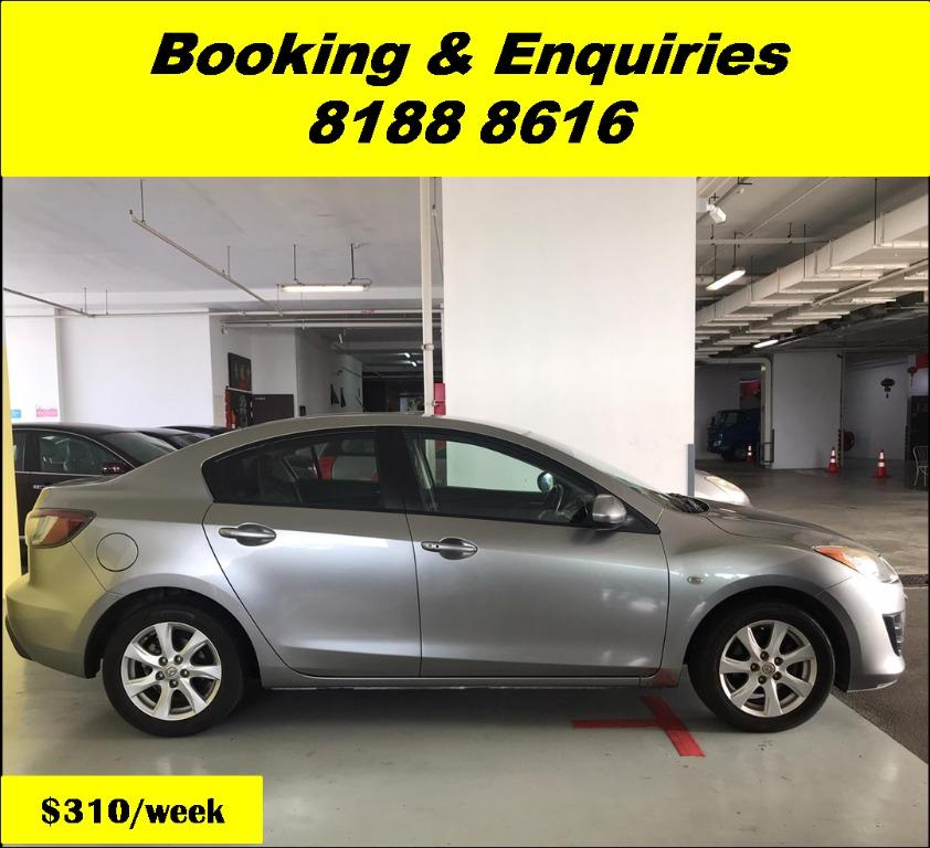 Mazda 3 HAPPY SUNDAY!! Most Reliable & Cheapest Car rental in town with just $500 Deposit driveoff immediately. Free rental for new signup contracts. Fuel Eficient & Spacious car. Whatsapp 8188 8616 now to enjoy special rates!!