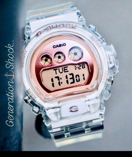 NEW🌟COUPLE💝SET : BABYG + GSHOCK DIVER UNISEX SPORTS WATCH  : 100% ORIGINAL AUTHENTIC CASIO BABY-G-SHOCK : GA-700SK-1A + GMD-S6900SR-7