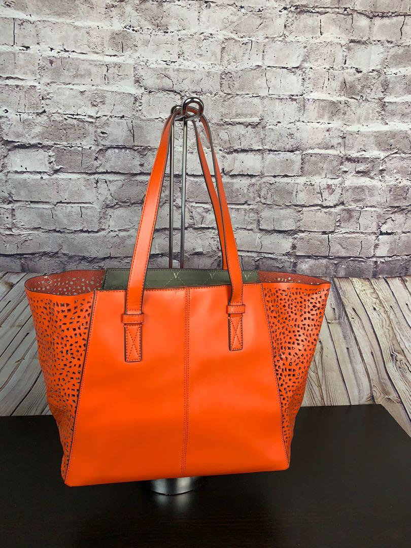 Vince Camuto Orange Perforated Spring/Summer Tote/Shoulder Bag