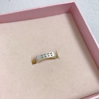 二手)真愛密碼純銀戒指