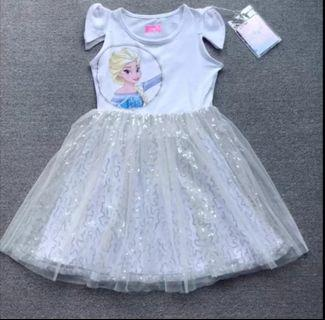 Frozen 2 Elsa bling bling 短袖連身裙