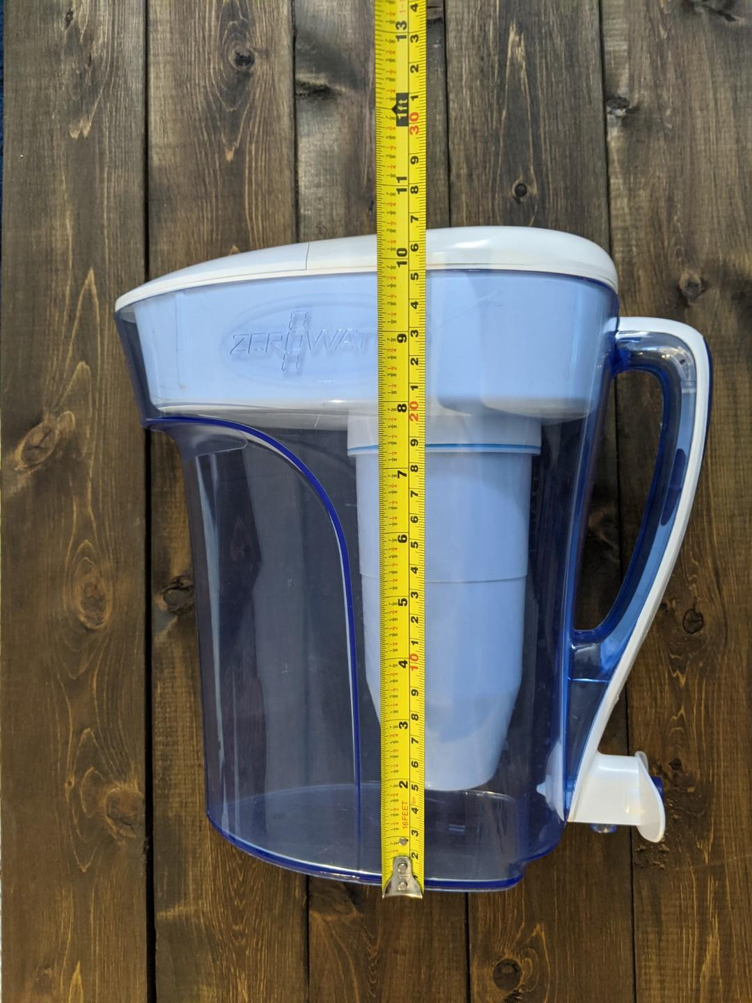 12 Cup Ready Pour Pitcher with TDS Meter and 2 Filters