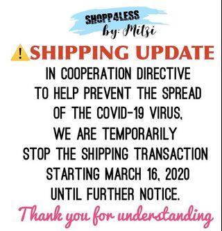 ⚠️SHIPPING UPDATE