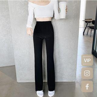 aroom 韓國不修邊喇叭褲