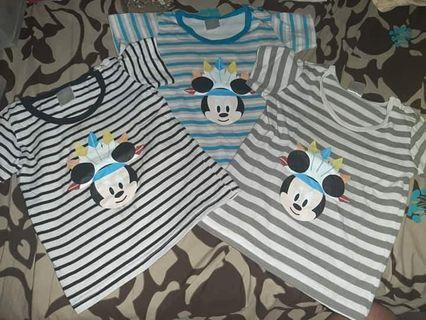 Disney mickey mouse shirt bundle