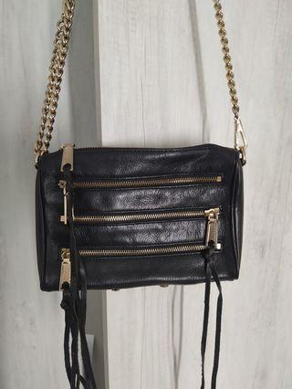 rebecca minikoff zip 黑色拉鍊包-大降價