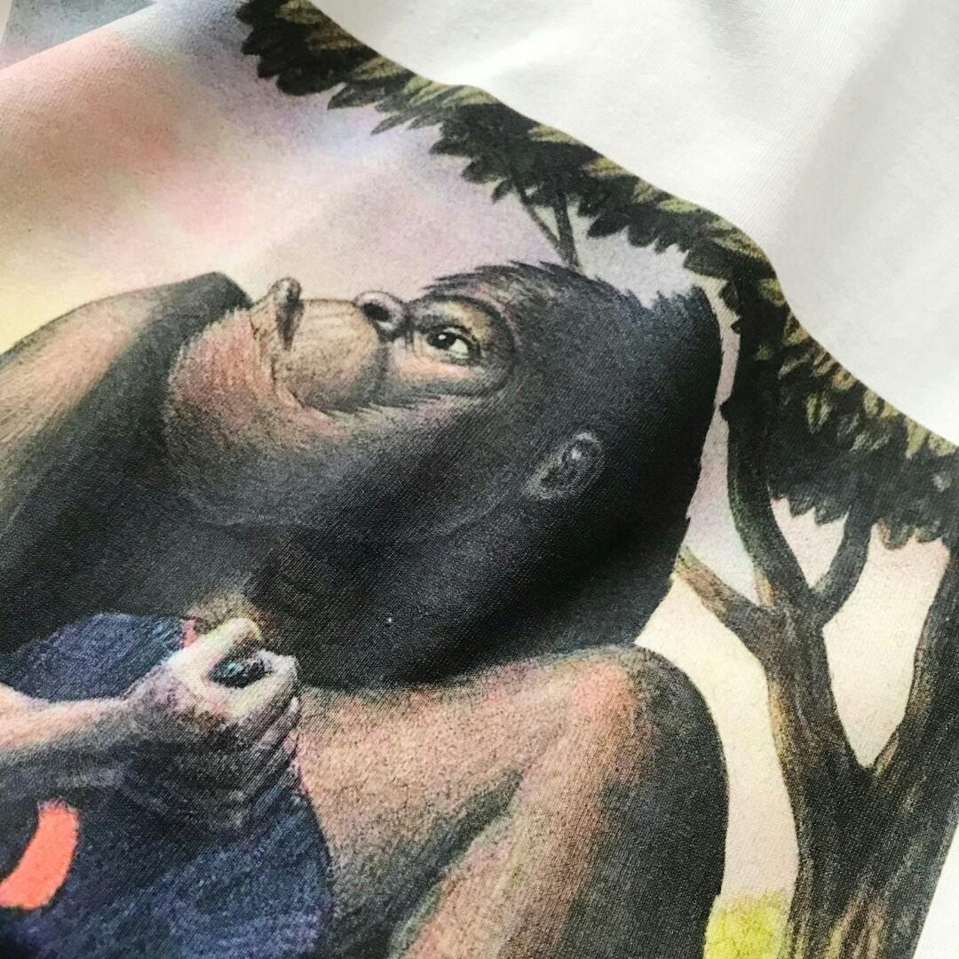 - G chun xia series of animal museum orangutan pattern round collar couples with short sleeve T-shirt