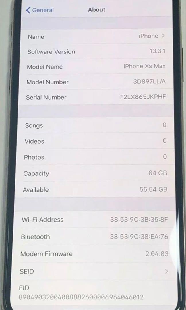 Apple iPhone XS Max 64GB AT&T & T-MOBILE Gold 3D897LL/A