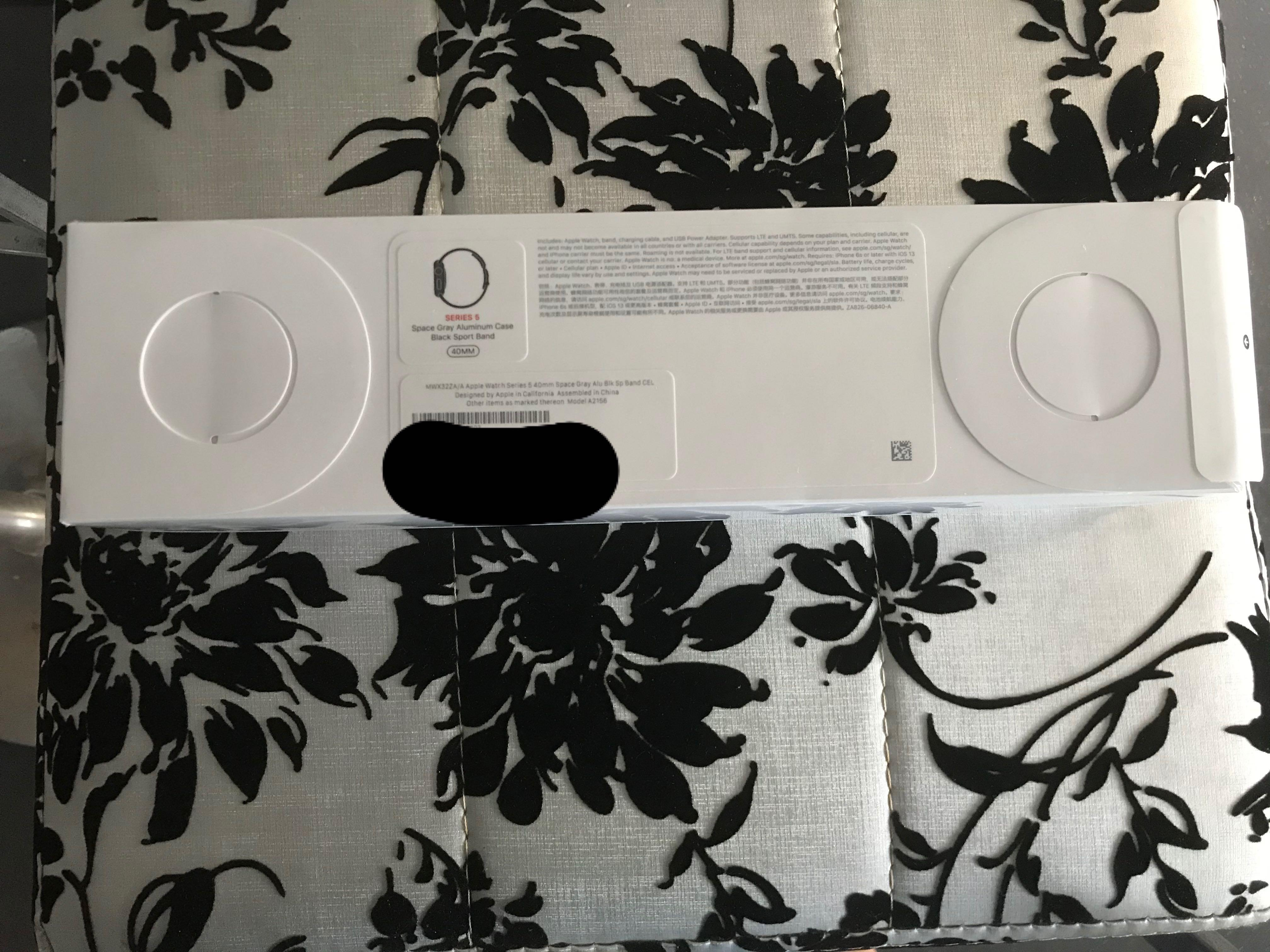 Apple Watch Space Grey Aluminium Case with Sport Band**RTP $749**Apple Watch Series 5