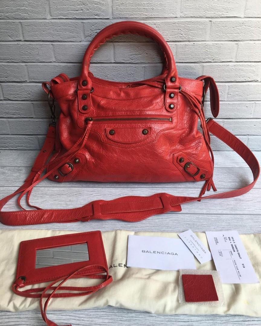 Balenciaga town 2013 strap adjustable 13.250 nett kelengkapan bag, booklet, tag, controlatto, sample leather,mirror, db
