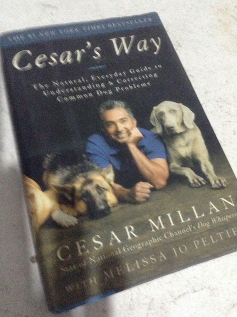 """Cesar's Way"" book from dog expert CESAR MILLAN/""Dog Whisperer"" guy/2006/USA"