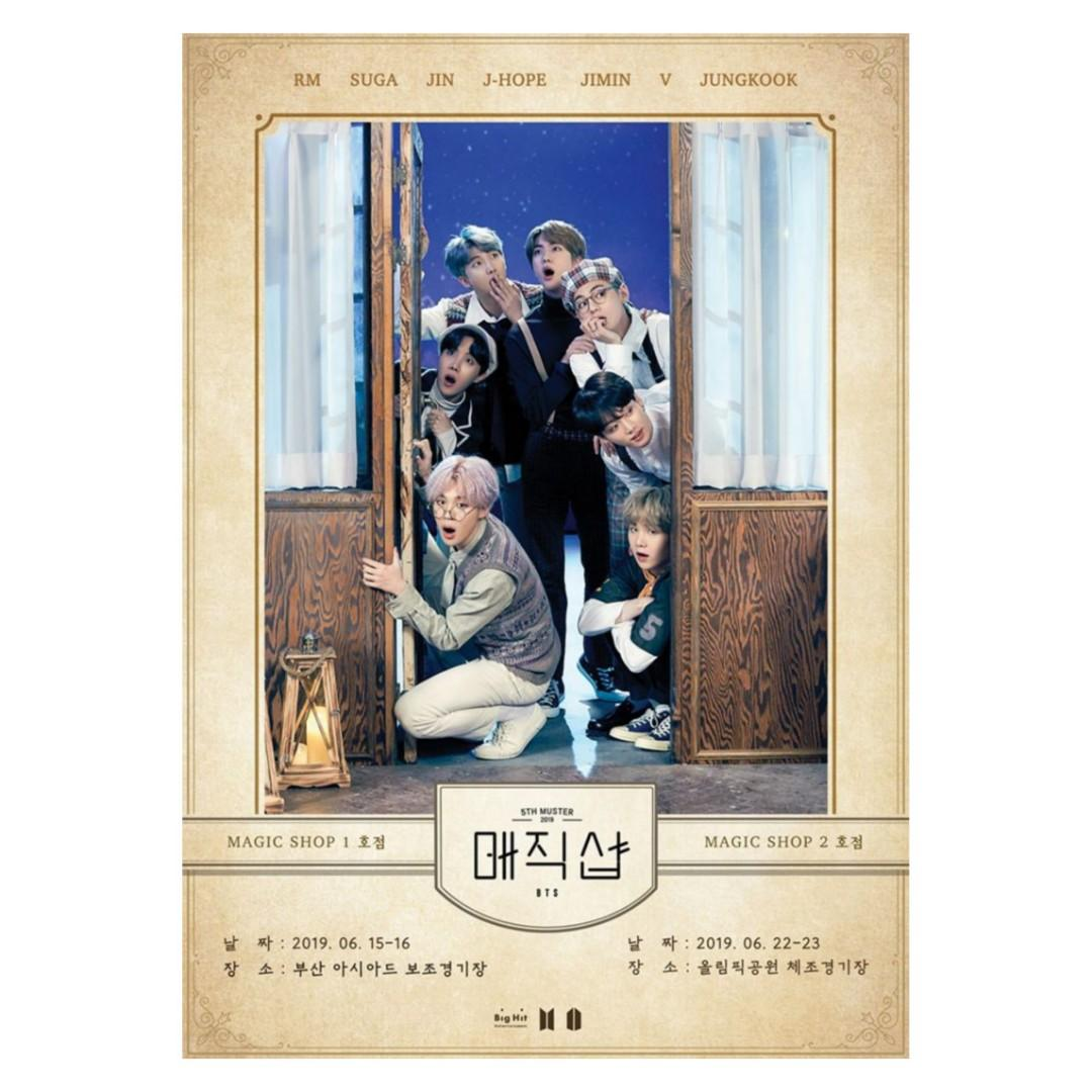 [FREE POSTAGE] BTS 5TH MUSTER MAGIC SHOP DVD & BLU-RAY