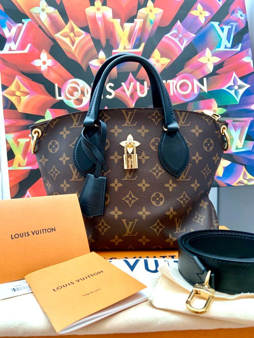 Full Set Receipt ♥️ Louis Vuitton Flower Zipped Tote PM (Monogram and black leather) LIKE BRAND NEW