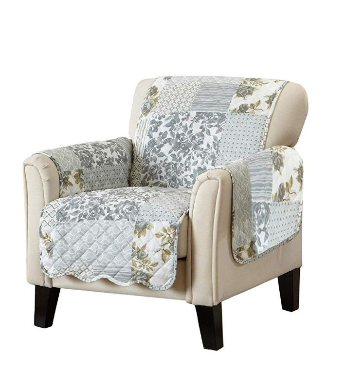 Furniture Water-resistant Quilted Reversible Chair Cover (75''x 68'')