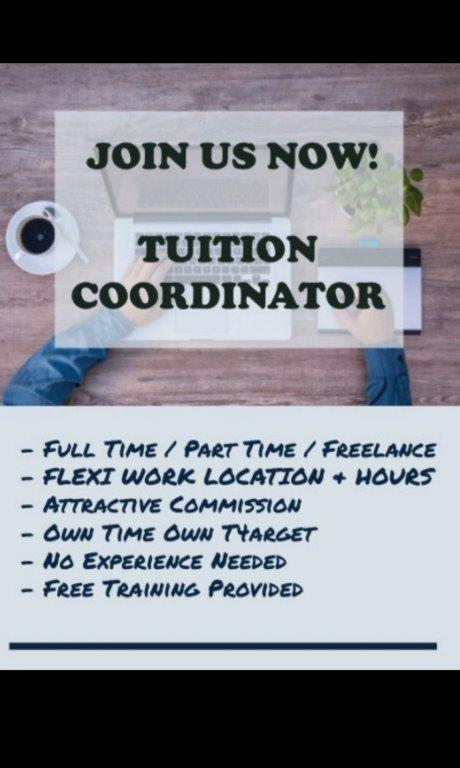 Get Paid By Doing Nothing After 1 month, Tuition Coordinator