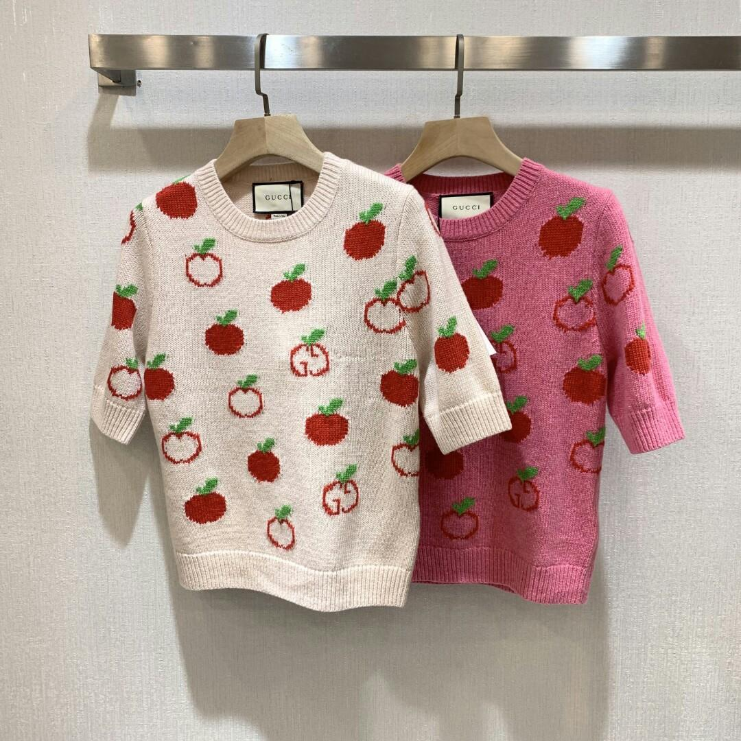 Original GUCC gucci home early spring new sweater runway looks delicate and charming be about to drip of apple hang to open the hundred trade company supply of goods the difference between the market goods visible difference