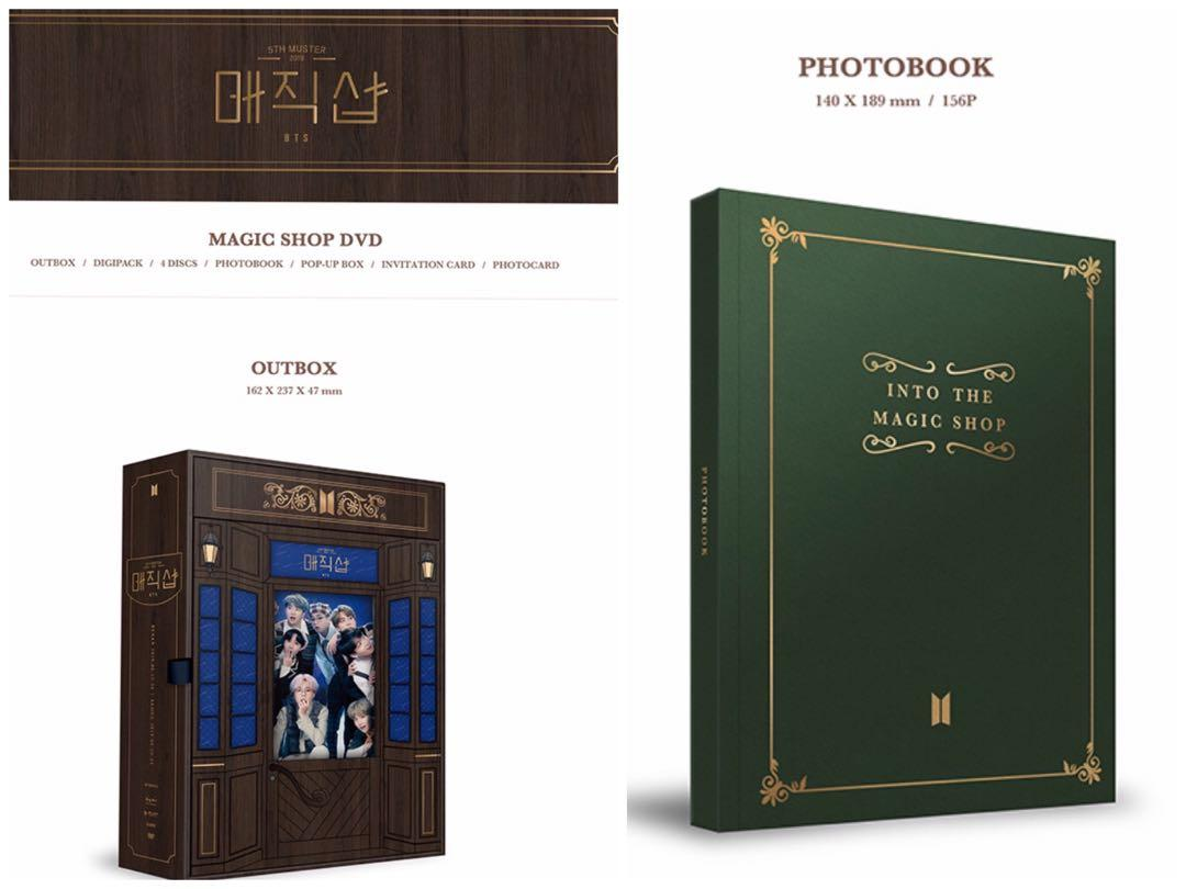 Loose item Outerbox + Photobook Muster 5th Magic shop DVD Malaysia GO 💜